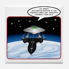UFO Tailgater Tile Coaster