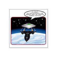 """UFO Tailgater Square Sticker 3"""" x 3"""""""