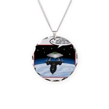 UFO Tailgater Necklace Circle Charm