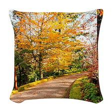 Autumn colors Woven Throw Pillow