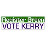 Register Green, Vote Kerry (sticker)