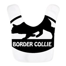 Border Collie Oval-1 Bib