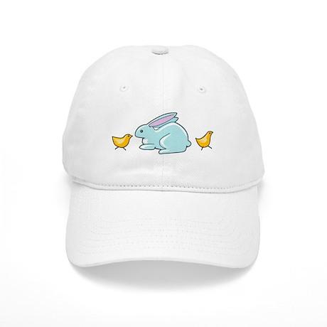 Blue Bunny & Chick's Cap