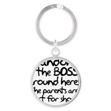 Landon is the Boss Round Keychain