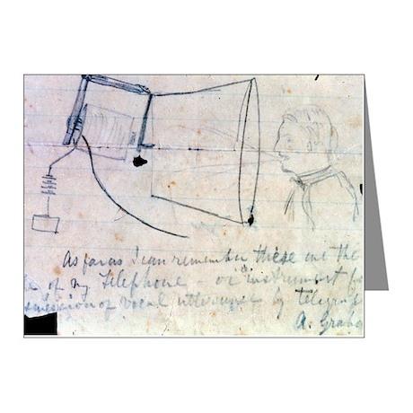 Alexander Graham Bell's tele Note Cards (Pk of 20)