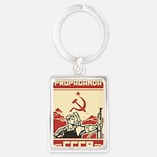 Soviet vintage propaganda Portrait Keychain