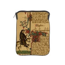 Equestrian portrait of Chaucer, 14th c iPad Sleeve