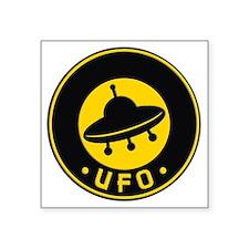 """UFO scifi vintage Square Sticker 3"""" x 3"""""""
