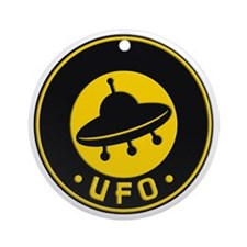 UFO scifi vintage Round Ornament