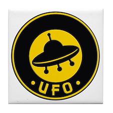 UFO scifi vintage Tile Coaster