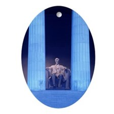 Abraham Lincoln Memorial at dawn Oval Ornament