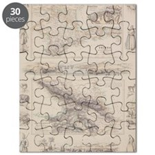 Antique maps of Caucasus and Crimea with vi Puzzle