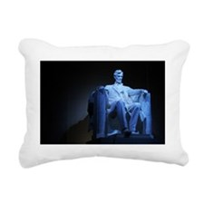 Statue of Abraham Lincol Rectangular Canvas Pillow
