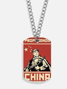 Maoist comunist vintage propaganda Dog Tags