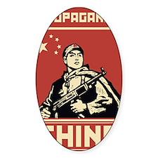Maoist comunist vintage propaganda Decal