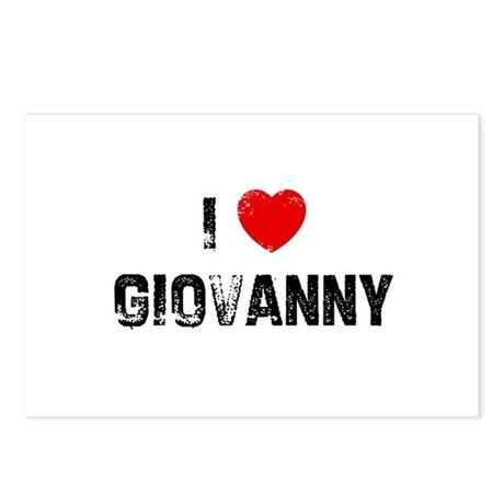 I * Giovanny Postcards (Package of 8)