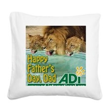 Fathers Day Hercules Square Canvas Pillow
