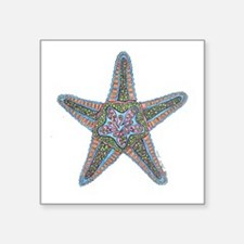 "Bubbly Starfish Square Sticker 3"" x 3"""