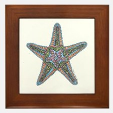 Bubbly Starfish Framed Tile