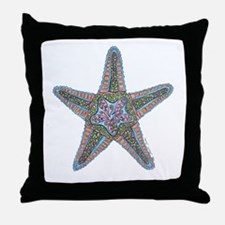 Bubbly Starfish Throw Pillow
