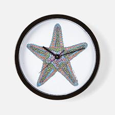 Bubbly Starfish Wall Clock