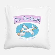 Im the Stork - Surrogate Moth Square Canvas Pillow
