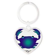 Whimsical Cancer Heart Keychain