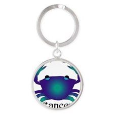 Whimsical Cancer Round Keychain