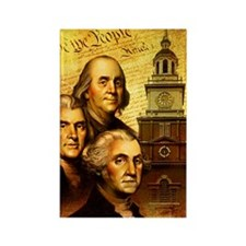 Founding fathers in front of the  Rectangle Magnet