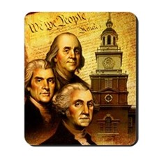 Founding fathers in front of the Declara Mousepad