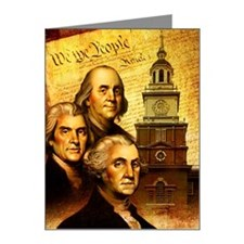 Founding fathers in front of Note Cards (Pk of 10)