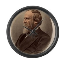 Portrait of US President Rutherfo Large Wall Clock