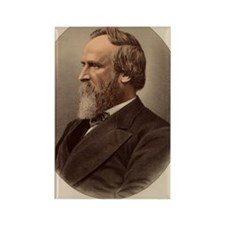 Portrait of US President Rutherfo Rectangle Magnet