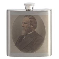 Portrait of US President Rutherford B. Hayes Flask