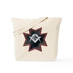 Masonic Maltese Square and Compasses Tote Bag