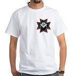 Masonic Maltese Square and Compasses White T-Shirt