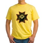 Masonic Maltese Square and Compasses Yellow T-Shir