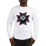Masonic Maltese Square and Compasses Long Sleeve T