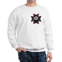 Masonic Maltese Square and Compasses Sweatshirt
