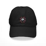 Masonic Maltese Square and Compasses Black Cap