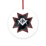 Masonic Maltese Square and Compasses Ornament (Rou