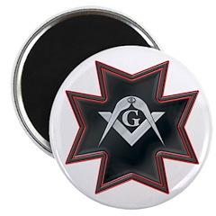 "Masonic Maltese Square and Compasses 2.25"" Magnet"