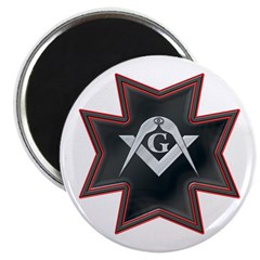 Masonic Maltese Square and Compasses Magnet