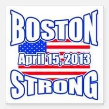 """Boston Strong 2013 Square Car Magnet 3"""" x 3"""""""