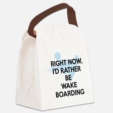 Rather be wakeboarding Canvas Lunch Bag