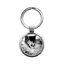 Wolves Round Keychain