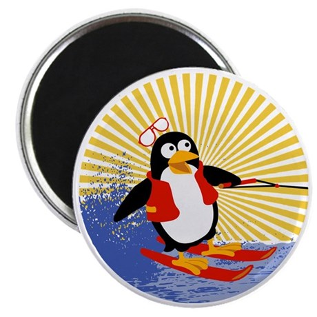 Penguin Water-Skiing Magnet