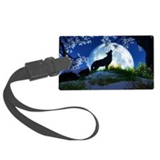 Howling Wolf Luggage Tag