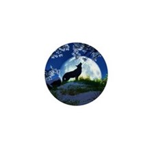 Howling Wolf Mini Button