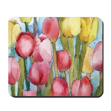 Pink Tulip Party Mousepad